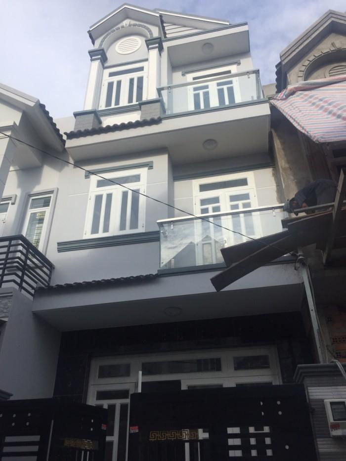 Hàng  cực hót Bán nhà đẹp mới xây hẻm 1942 Huỳnh Tấn Phát, Nhà Bè,DT 4x13m,3 lầu.