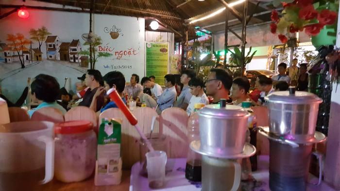 Sang nhượng quán cafe võng + cơm trưa