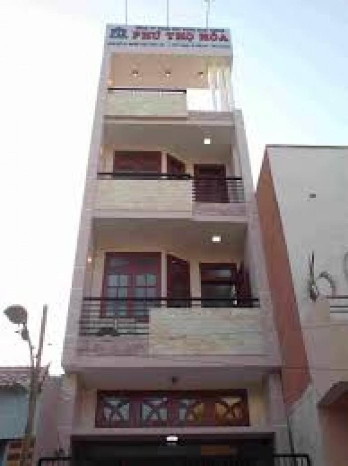 Cho thuê nhà góc 2MT Lê Quốc Hưng, Q.4, DT: 5x10m, trệt, 4 lầu.