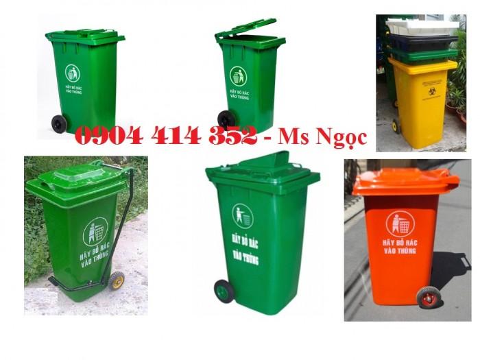 Bán thùng rác công cộng 120lít, 240lít , hàng chất lượng cao trên toàn quốc