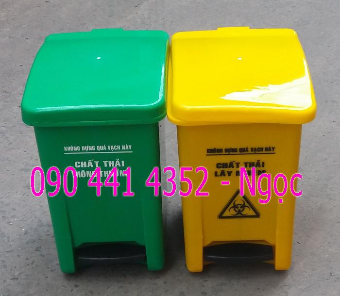 Sọt đựng rác thải y tế , thùng rác y tế 15l,20l giá thành siêu rẻ, có chân đạp màu trắng