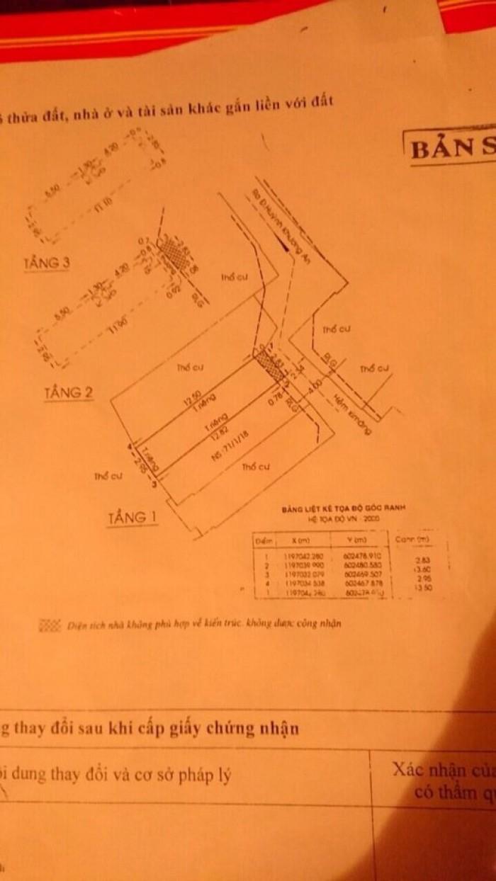 Bán Nhà hẻm 71 Huỳnh Khương An, phường 5, quận Gò Vấp, 3 x 14m, 1 Trệt + 2 Lầu