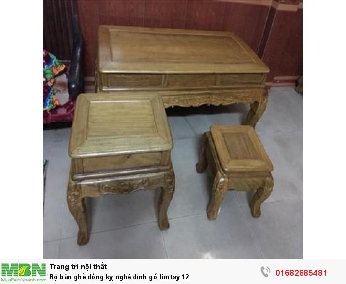 Bộ Bàn Ghế Nghê Đỉnh gỗ lim tay 12