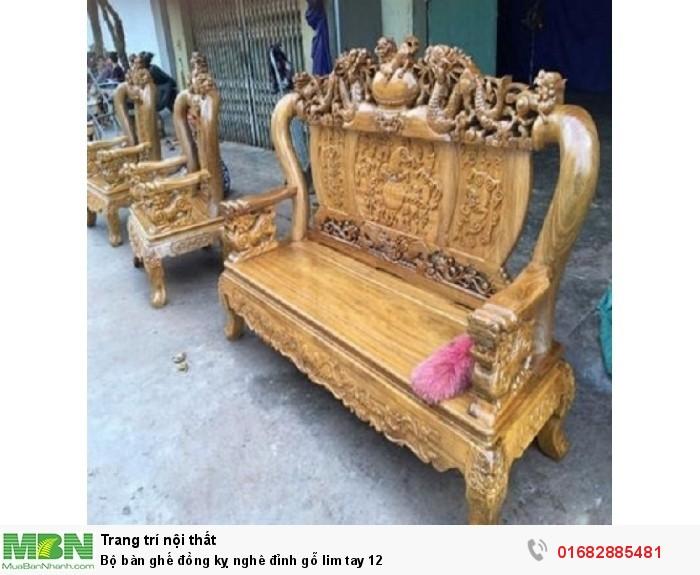 Bộ Bàn Ghế Nghê Đỉnh gỗ lim tay 127