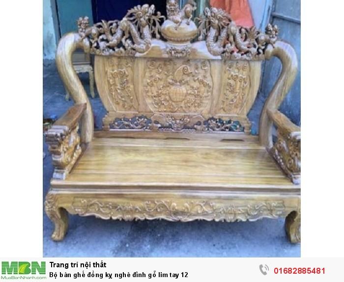 Bộ Bàn Ghế Nghê Đỉnh gỗ lim tay 1210