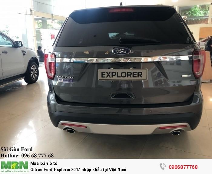 Giá xe Ford Explorer 2019 nhập khẩu tại Việt Nam