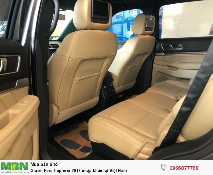 Giá xe Ford Explorer 2019 nhập khẩu tại Việt Nam 8
