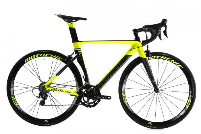 Xe đạp đua Motachie Maboro R11.1 2017, mới 100%, miễn phí giao hàng, màu Đen vàng chanh