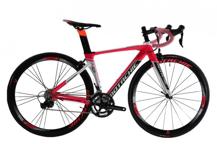 Xe đạp đua Motachie Maboro R11.1 2017, mới 100%, miễn phí giao hàng, màu Trắng hồng