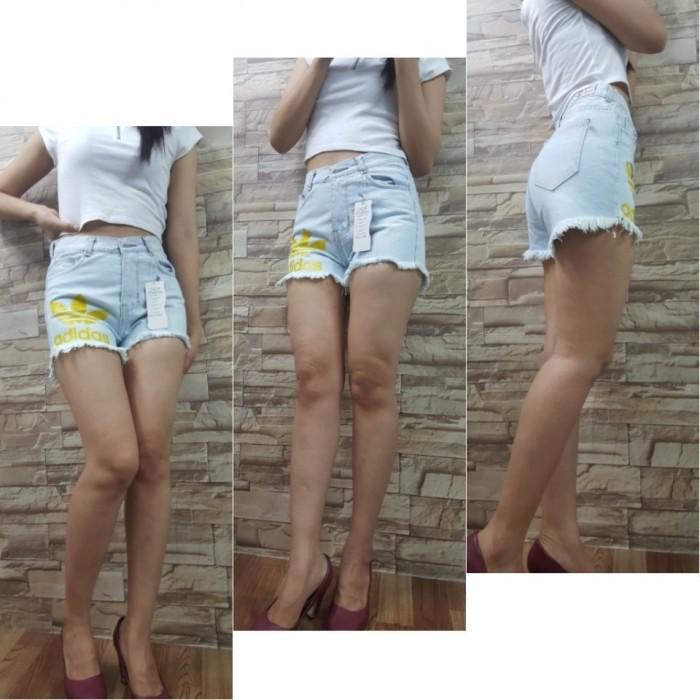 Short jean nữ in chữ, Cotton không giãn1