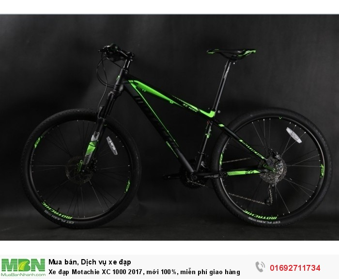 Xe đạp Motachie XC 1000 2017, mới 100%, miễn phí giao hàng, màu Đen xanh lá