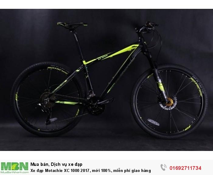 Xe đạp Motachie XC 1000 2017, mới 100%, miễn phí giao hàng, màu Đen vàng
