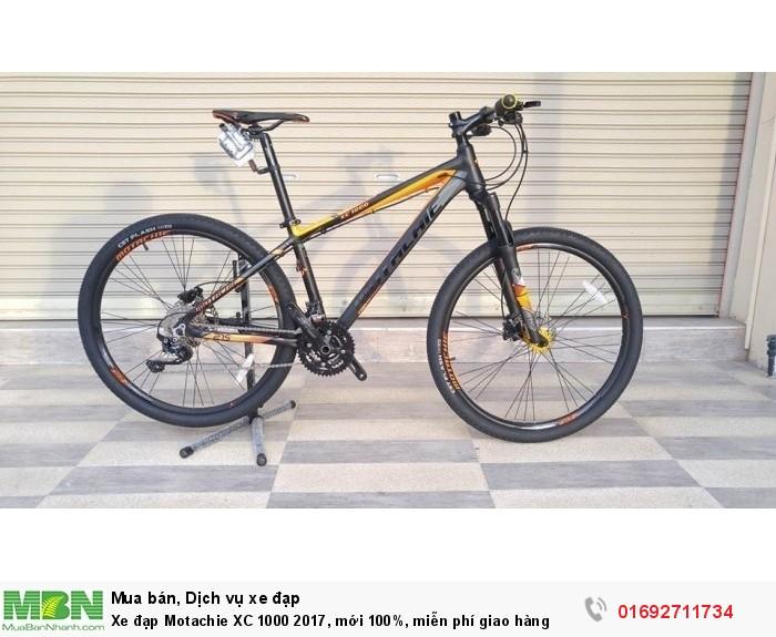 Xe đạp Motachie XC 1000 2017, mới 100%, miễn phí giao hàng, màu Đen cam