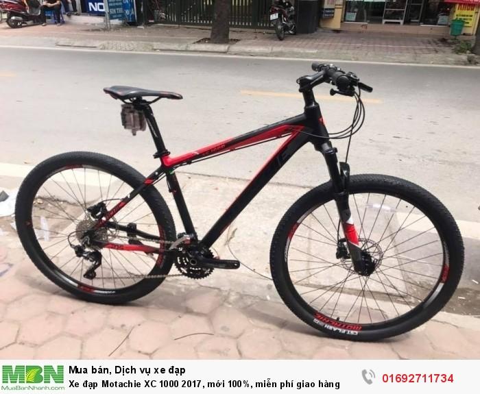 Xe đạp Motachie XC 1000 2017, mới 100%, miễn phí giao hàng, màu Đen đỏ