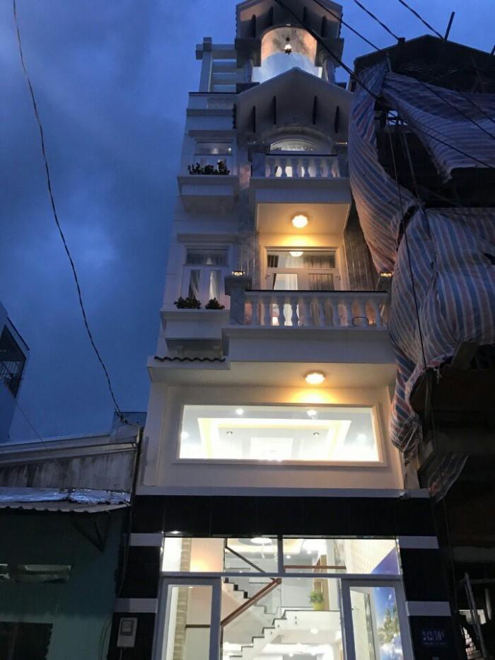 Bán Nhà Hẻm 242 Thống Nhất, phường 10, quận Gò Vấp, 4 x 15m, 1 Trệt + 1 lửng, 3 Lầu, giá 6,5 tỷ