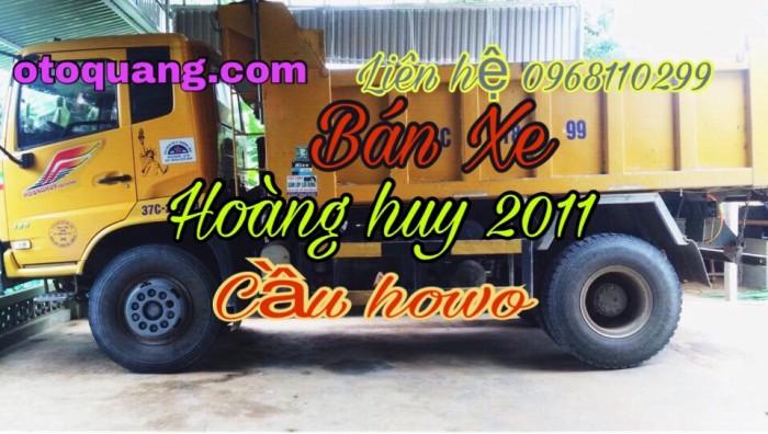Bán xe tải ben 8 tấn DONGFENG Hoàng Huy nhập khẩu đời 2011 cầu howo 7