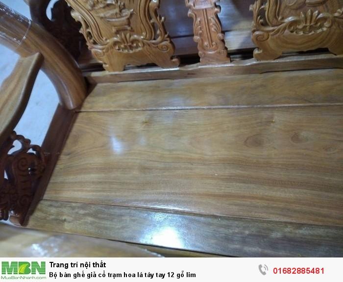 Bộ bàn ghế giả cổ hoa lá tây gỗ lim6