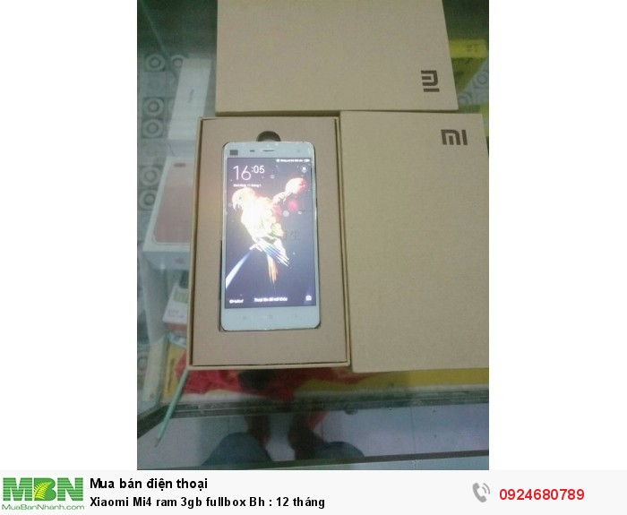 Xiaomi Mi4 ram 3gb fullbox Bh : 12 tháng