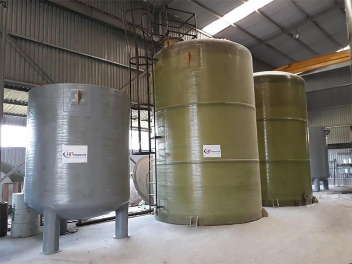 Bồn nhựa FRP chứa hóa chất Hcl, NaOH, H2SO4, Javen… đậm đặc