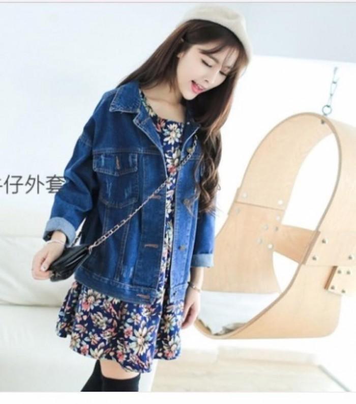 Áo khoác jean nữ tay dài2