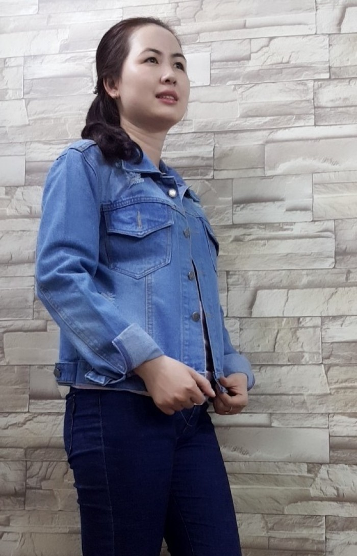 Áo khoác jean nữ tay dài3