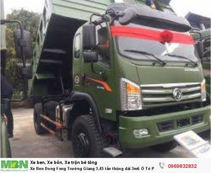 Xe Ben Dong Feng Trường Giang 3,45 tấn thùng dài 3m6 Ô Tô Phú Mẫn  hỗ trợ trả góp