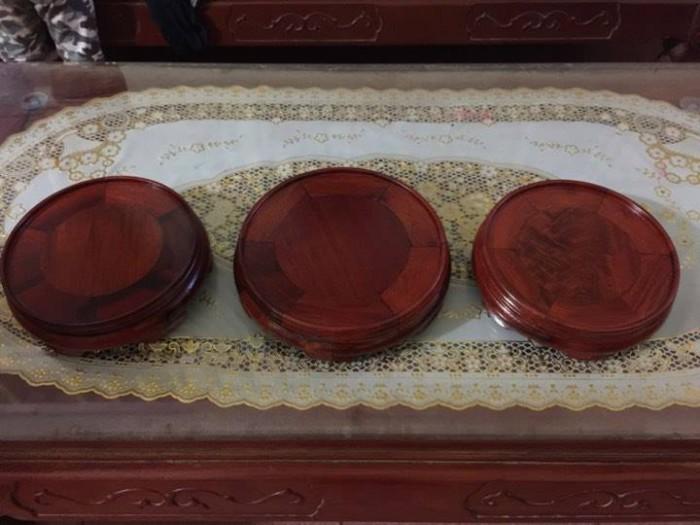 Bộ kỉ tròn đặt bát hương bằng gỗ hương các loại1