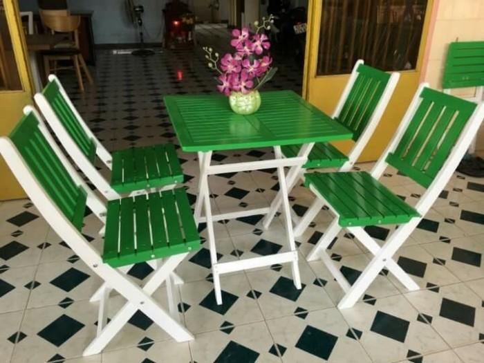 Bàn ghế gỗ trà sữa giá rẻ1