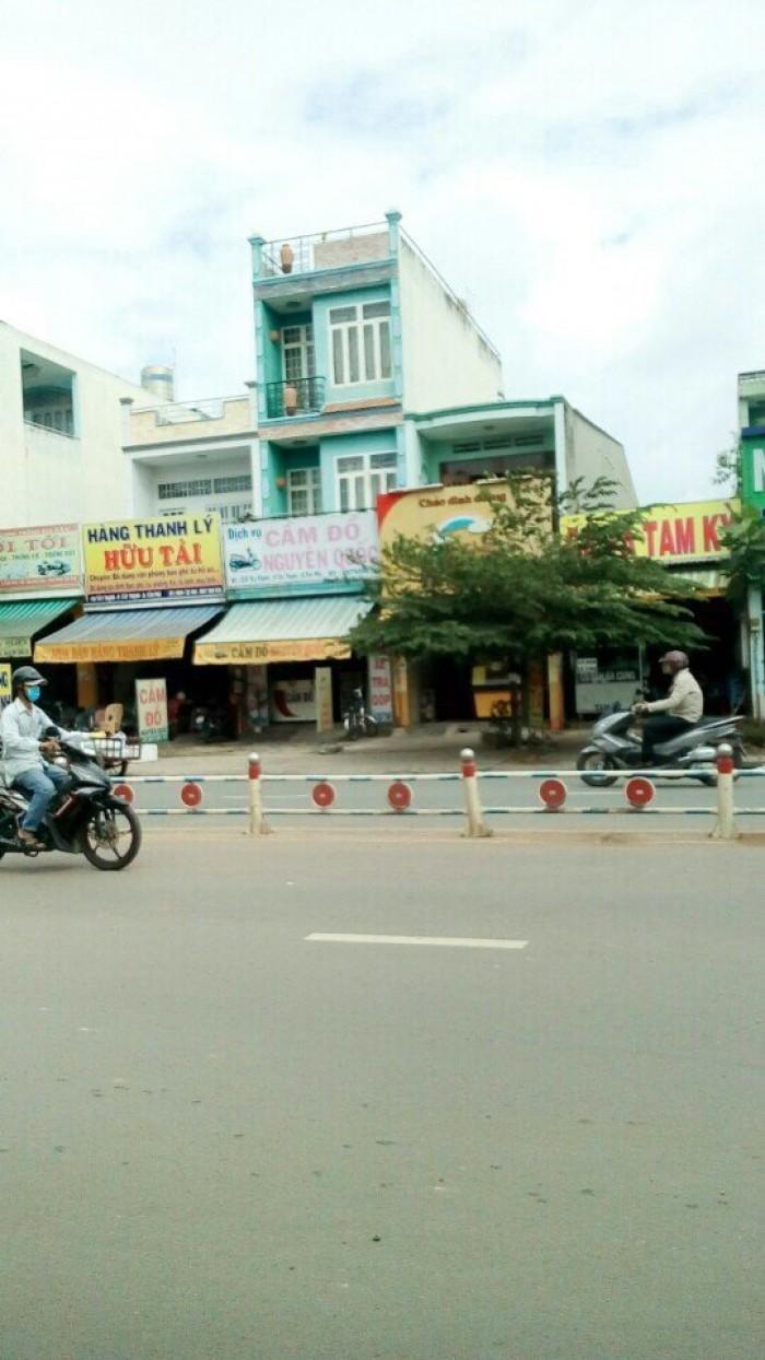 Bán nhà mặt tiền Tây Thạnh, phường Tây Thạnh, quận Tân Phú, 16 x 26m, 1 Trệt + 1 Lầu, giá 33 tỷ