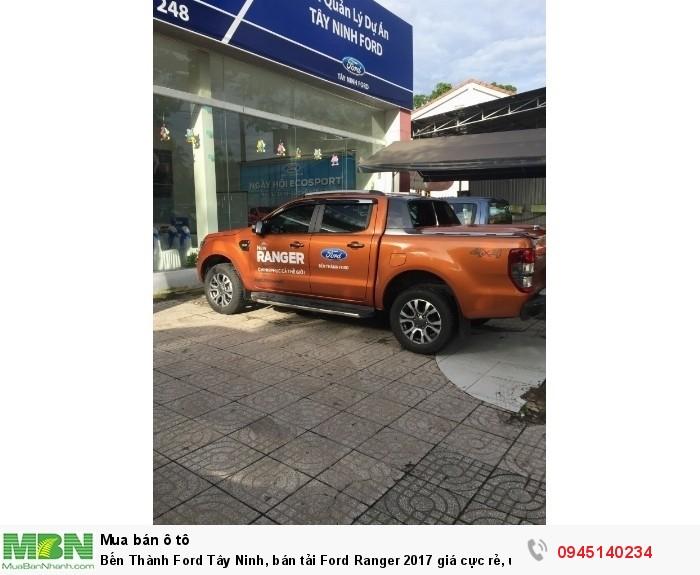 Bến Thành Ford Tây Ninh, bán tải Ford Ranger 2017 giá cực rẻ, ưu đãi khủng lên đến 80 triệu giao xe ngay, vay trả góp 90%