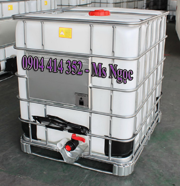 Thùng nhựa ibc 1000lít đựng hóa chất giảm giá , bồn nhựa ibc 1000l cũ-mới