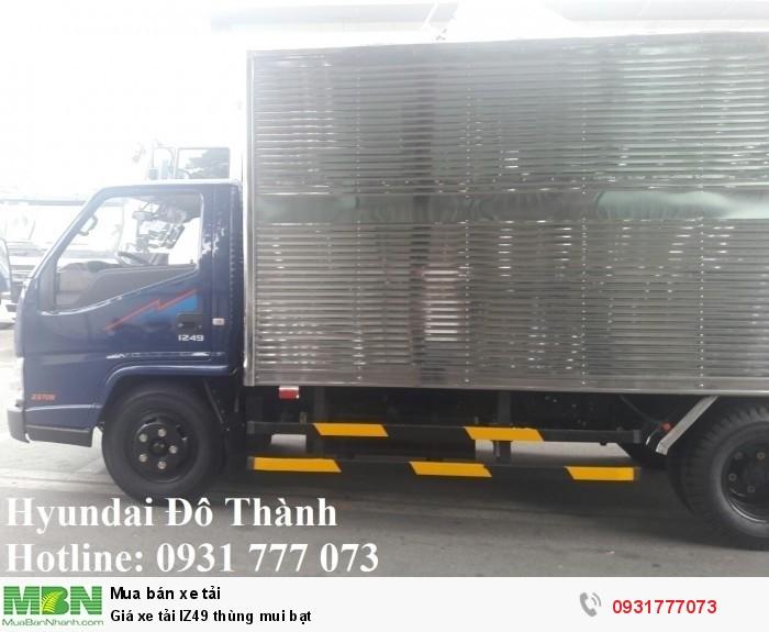 Giá xe tải IZ49 thùng mui bạt - Thủ tục nhanh gọn lẹ