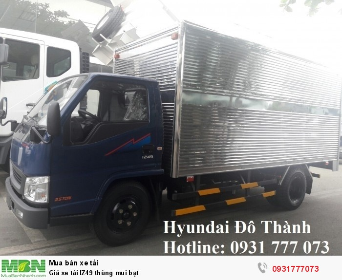 Giá xe tải IZ49 thùng mui bạt - Hỗ trợ vay ngân hàng lãi suất thấp