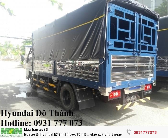 Mua xe tải Hyundai IZ49, trả trước 80 triệu - Hotline: 0931777073 (24/24)