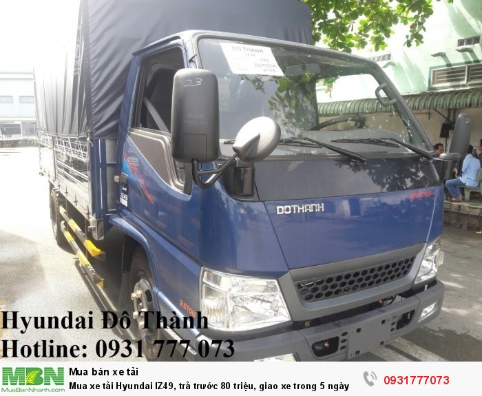 Xe tải Hyundai IZ49 2.5 Tấn - Nhận đăng ký, đăng kiểm, ra biển số, giao xe nhanh nhất miền Nam.