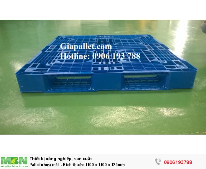 Pallet nhựa mới - Kích thước 1100 x 1100 x 125mm