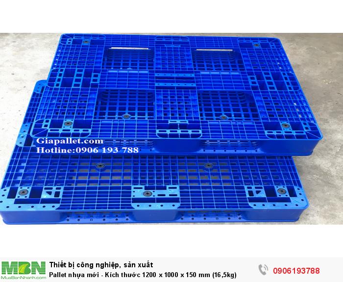 Pallet nhựa mới - Kích thước 1200 x 1000 x 150 mm (16,5kg)