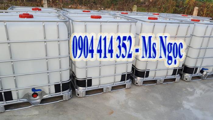 Bán thùng nhựa ibc1000lít hợp vệ sinh, bồn nhựa ibc 1 khối đựng hóa chất giá rẻ