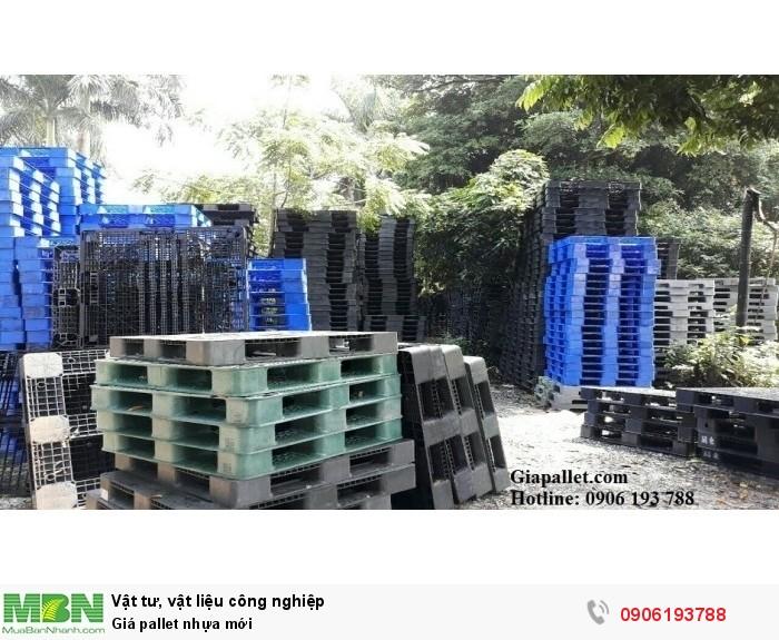 Giá pallet nhựa mới tại kho