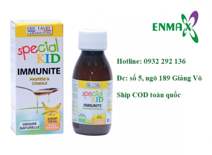 Special Kid Imunite với có tác dụng  bổ sung các loại vitamin và khoáng chất có tác dụng giúp tăng cường miễn dịch cho trẻ, tăng sức đề kháng cho trẻ. Chai 125 ml giá bán: 209.000đ/ chai. Liên hệ: 0932 292 136 để được giao hàng tận nơi trên toàn quốc0