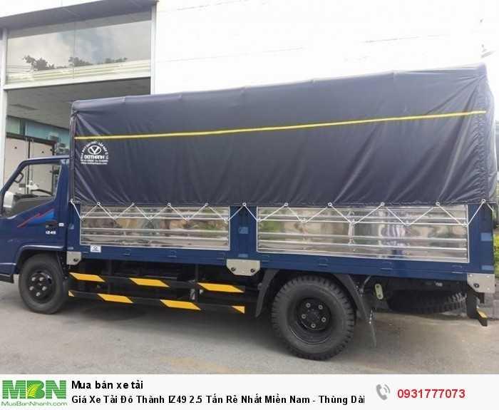Thùng xe dài 4.2m , tải trọng cao 2.5 tấn