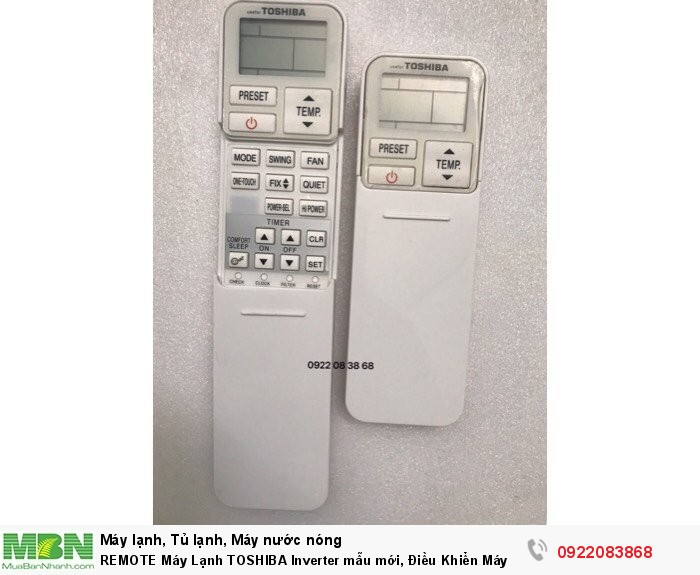 REMOTE Máy Lạnh TOSHIBA, Mới 100%, giá 150k
