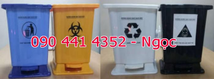 Thùng rác y tế 15 lít, thùng rác có chân đạp 20 lít . Thùng chứa rác thải lây nhiễm