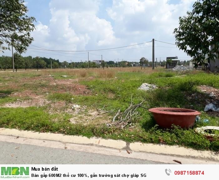 Bán gấp 600M2 thổ cư 100%, gần trường sát chợ giáp SG