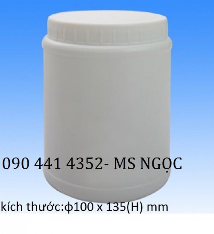 Hủ nhựa 1 lít, lọ nhựa 2 lít, chay nhựa 0.5 lít , hủ nhựa đựng hóa chất