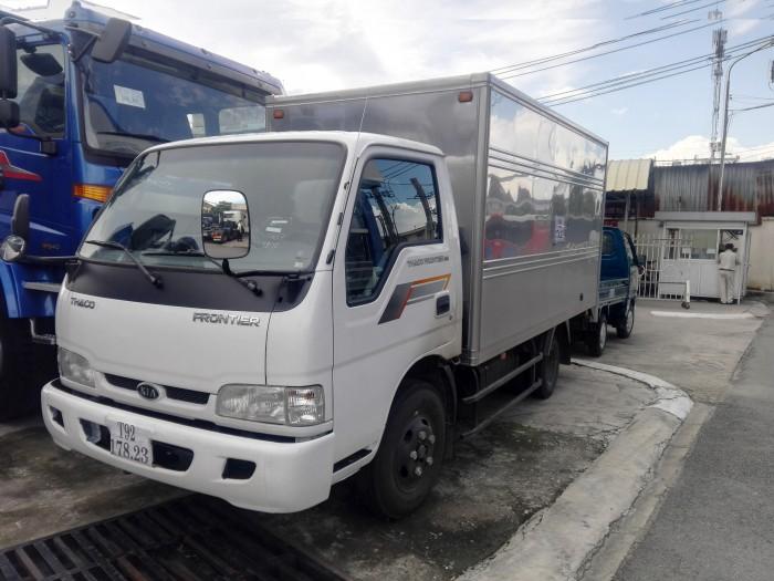 Xe tải nhẹ KIA thùng kín 2t3, đời 2017, nhập khẩu, hỗ trợ trả góp 0