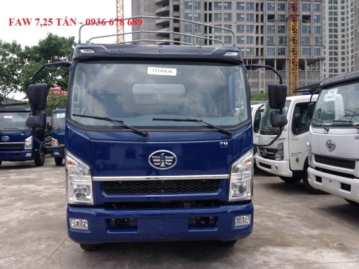 Bán xe tải Faw 7,25 tấn thùng bạt dài 6,3M,động cơ YC4E140 mạnh mẽ
