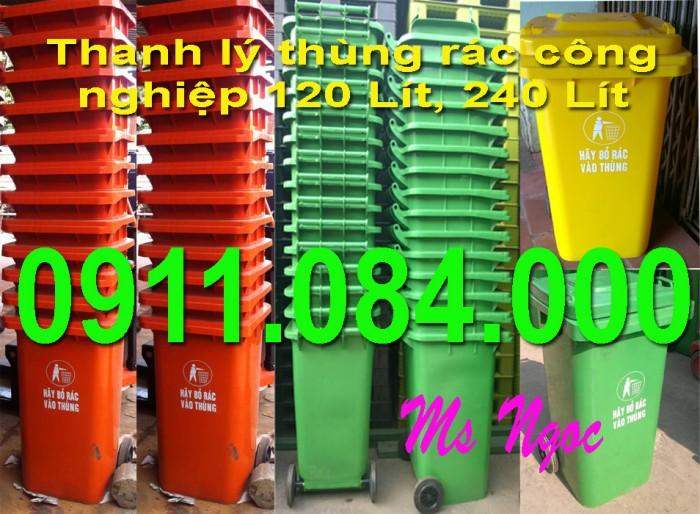 Giá thấp nhất! Phân phối thùng rác 240 lít
