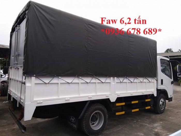 Xe tải Faw 6,2 tấn thùng dài 4,3M,chở nặng tốt,cabin hiện đại