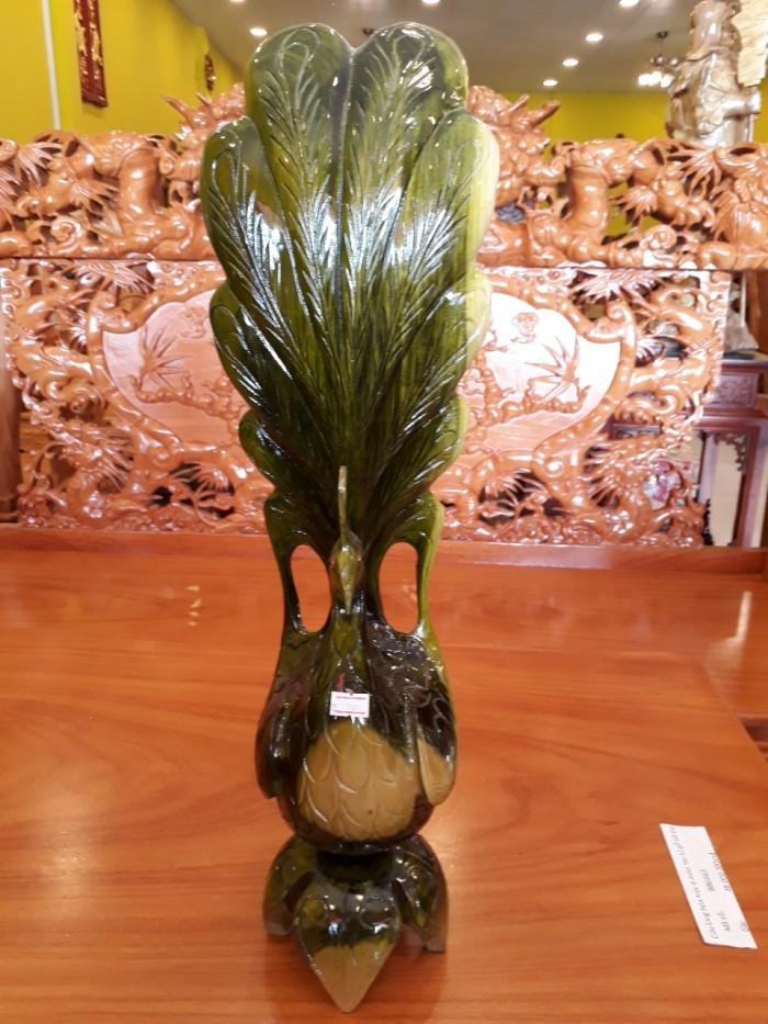 Cặp tượng chim công gỗ đổi màu - TCC01
